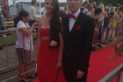 Felicia and Karl at their graduationball